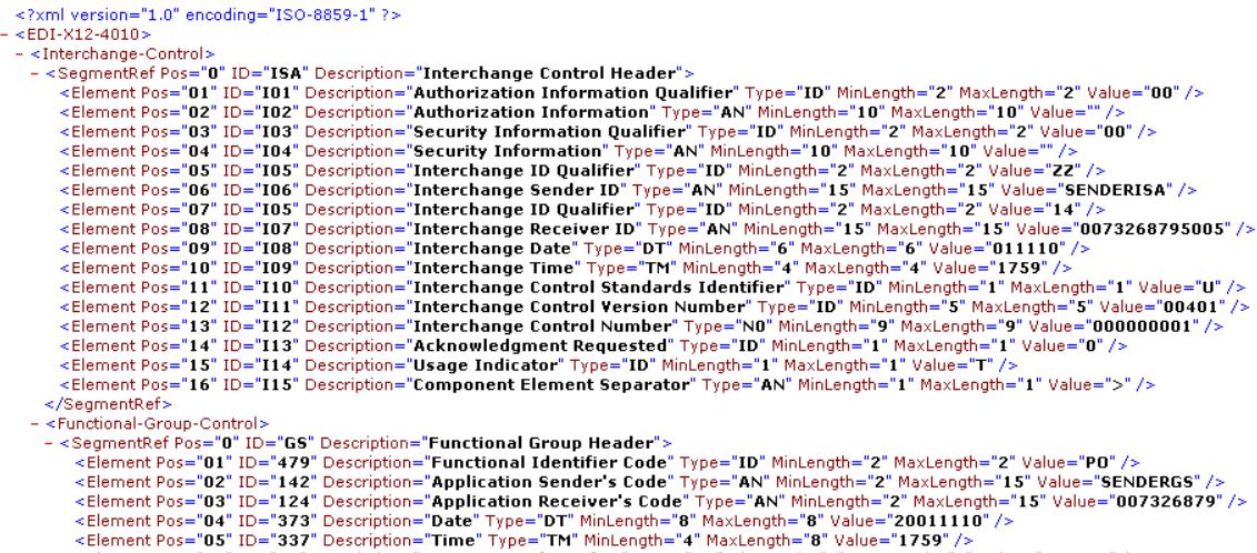 Converting EDI to XML